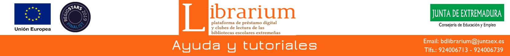 Cabecera de la web de ayuda de Librarium